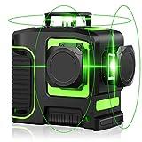 レーザー墨出し器 12ライン グリーン 緑色 レーザー 自動補正 高輝度 高精度 自動水平調整機能 傾斜モード フルライン照射モデル クロスラインレーザー