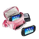 Orzly® - Funda para Sony PSP (GO/VITA/1000/2000/3000) - Funda para Consola, Juegos y Accessarios Bolso Incluye: Correa para el Hombro Ajustable + Llevan la Manija + Fijación a un Cinturón - Rosa