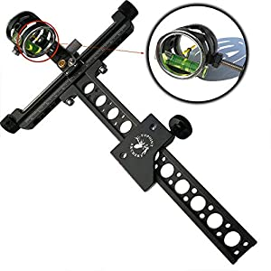 Compound Bow Sight Micro-Adjust 1 Pin 0.059″ 4X Lens Optical Fiber Hunting Shoot