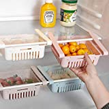 [ MULTI-PURPOSE STORAGE ] - Organise Your Food/Drinks/Small Parts. They are Used for Refrigerator, Freezer, Table, Desk, Cabinet Etc. [ EXPANDABLE ] - Just Slide and Expand the Under Shelf Basket According to the Space That is Needed. Fridge Storage ...