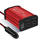 GELOO 300W Power Inverter, DC 12V to 110V AC Car Inverter with 4.8A Dual USB Charging Ports Car Charger Adapter