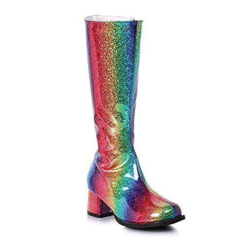 "Girls Summer Rainbow Sparkle 1.75"" Heel Gogo Boots size XS 9-10"