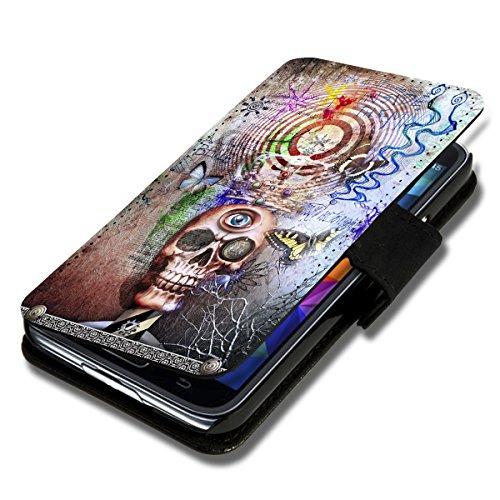 Book Style Flip Handy Tasche Case Schutz Hülle Foto Schale Motiv Etui für LG L Fino - A37 Design6