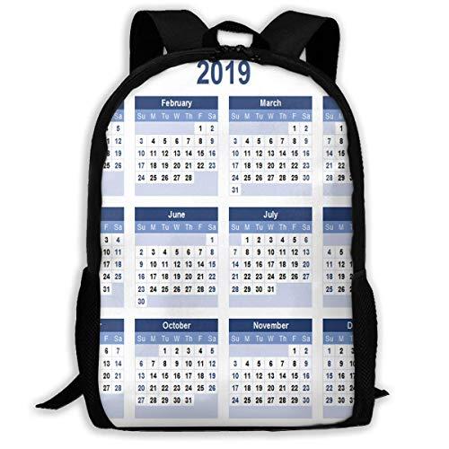 NA Rugzak Voor Meisjes Jongens 2019 Kalender Sjablonen Rits School Boekentas Dagtas Reizen Rugzak Gym Tas Voor Man Vrouwen