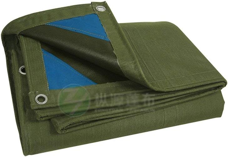 JINSH bache de Tente en Plein air épaississement auvent de Camion en Tissu extérieur auvent versé étoffe imperméable bache Isolation Anti-vieillissement résistant (Couleur   vert, Taille   4M6M)