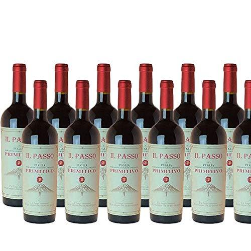 Rotwein Italien Primitivo Il Passo Puglia trocken (12x0,75L)