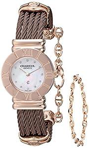 Charriol Women's 028RP543326 St Tropez Analog Display Swiss Quartz Brown Watch image