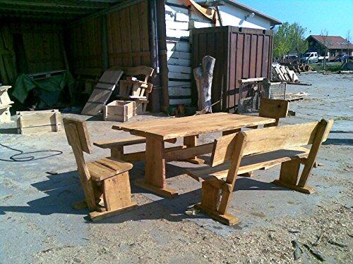 KJR Holzmanufaktur - Muebles de jardín, roble, grupo de asientos. 2 m.
