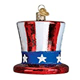 Old World Christmas Glass Blown Ornament Uncle Sam's Hat (36206)