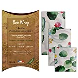 Halton PSC Bee Wrap   Lot de 3 Emballages Cire d'Abeille   Emballage...