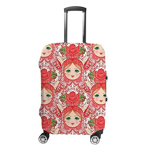 Gepäckabdeckung, verdickt, waschbar, russische Puppe, rosa, Polyester, elastisch, faltbar, leicht, Reisekoffer-Schutz