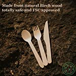 GREENPRINT Disposable Wooden Cutlery Sets - 150 Piece Total: 50 Forks, 50 Spoons, 50 Knives, 6 Inch Length Ecological… 9