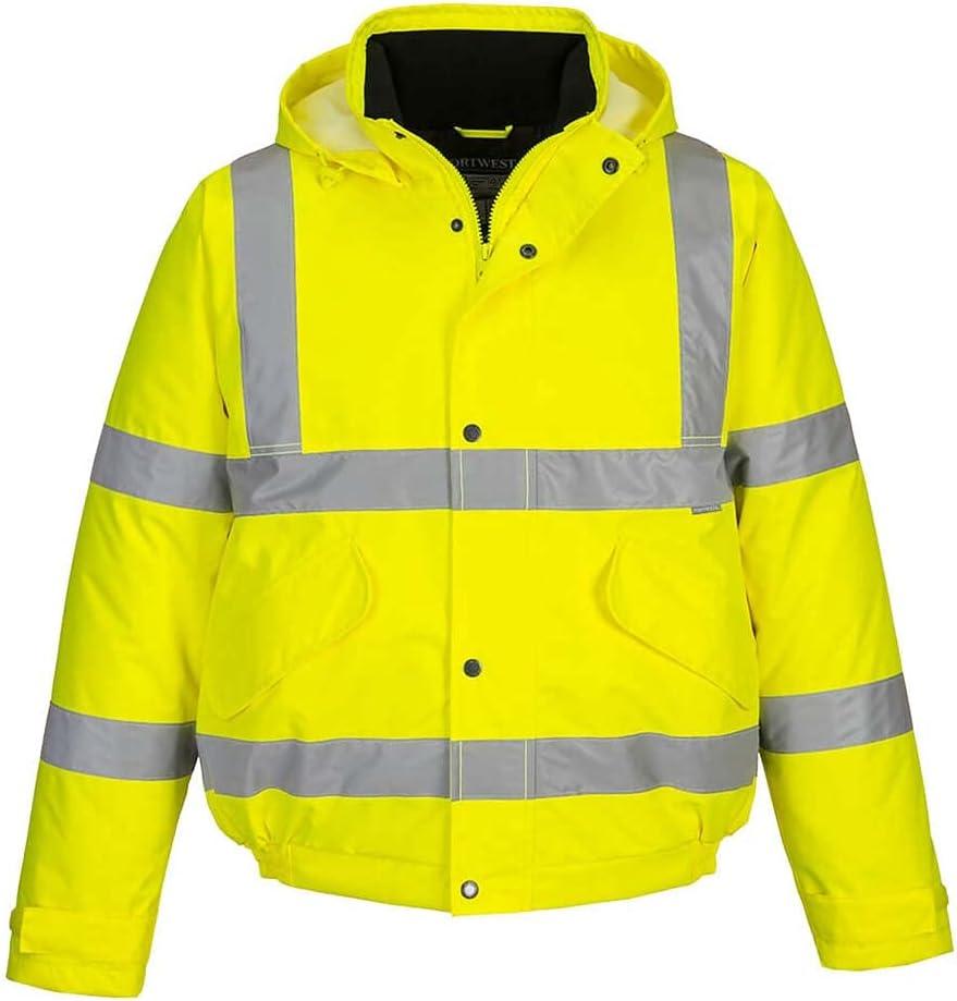 Portwest US463YER6XL Regular Fit Hi-Vis Bomber Jacket, 6X-Large, Yellow