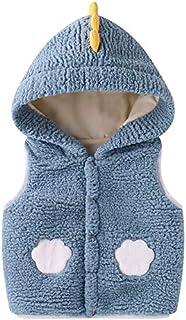 Bebé Chaleco con Capucha, Invierno Fleece Chaqueta Outfits Traje de Nieve Niñas Niños Sin Mangas Calentar Abrigo Regalos R...