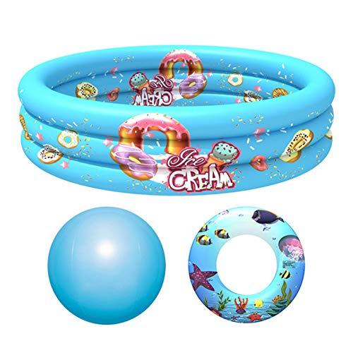 Jingtaihua Inflatable Swimming Pool,3 Rings Cycles Inflatable Kiddie Pool...