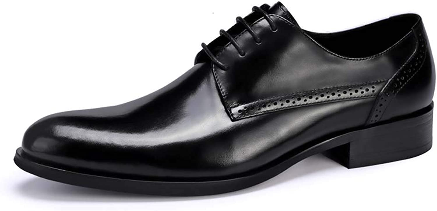 XLY Summer England men's business Lace-up leather shoes first layer leather wedding shoes