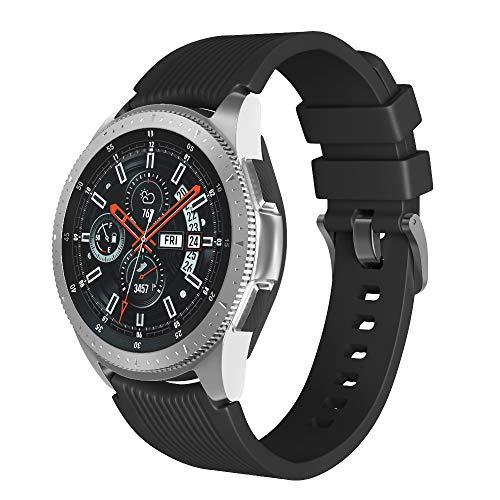 Tyogeephy Compatible con Huawei GT/Huawei GT 2(46mm) Watch Correa de Reloj/Galaxy Watch 46mm/ Gear S3 Correa de Reloj, 22mm Silicona Deportiva Correa de Reloj para Galaxy S4 46mm Watch/Gear S3