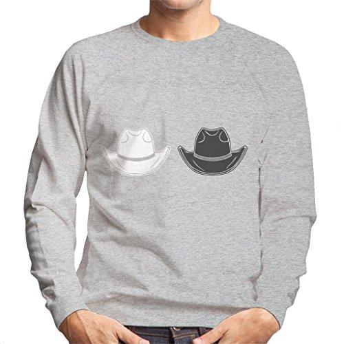 Westworld The Man In The Black Hat White Hat Men's Sweatshirt