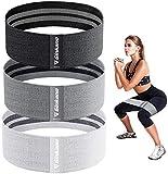 Haquno Elastici Fitness (3 Pezzi), Bande Elastiche di Resistenza Set di 3 Colore Elastiche Fitness in Tessuto con 3 Livelli di Resistenza,per Esercizi Glutei, Yoga, Pilates, Palestra