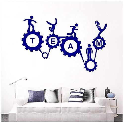 Hanzeze Gear mechanisme Muurstickers Afneembaar en levendig ontwerp DIY huis muur raam art deco sticker geschikt voor kinderkamer 57x38cm