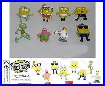 Spongebob Conjunto Completo de 8 Figuras de Colleccion 4cm Bob Esponja Patrick Sandy Nuevo Raro También Decoración De Pasteles Original Cake Topper