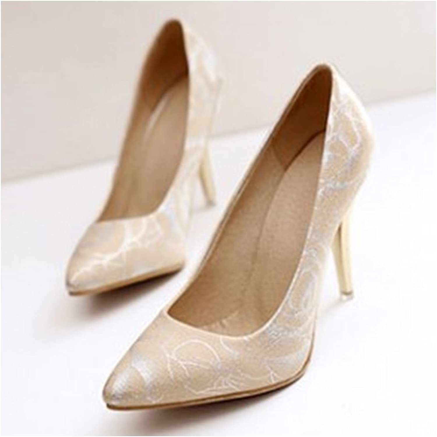 Women shoes Pointed High Heel Thin shoes apricot