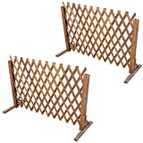 uyoyous Enrejado de madera extensible hasta 160 cm, 2 unidades, plegable, variable, ajustable,...