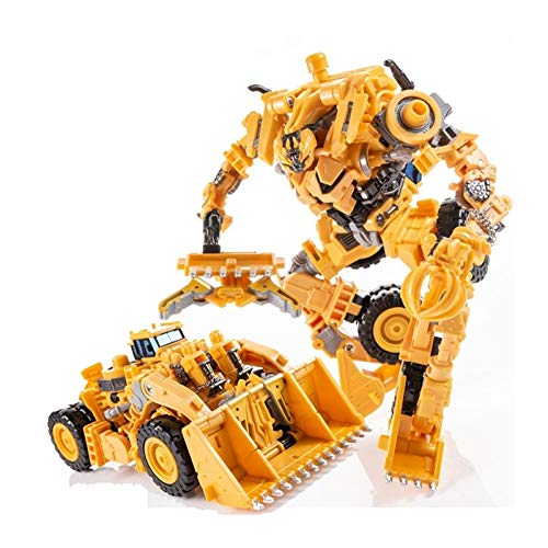 ghjkl Juguêtês Dê Trànsfōrmêrs, Transformación ampliada devastador Amarillo Bulldozer acción Figura Creativa ensamblaje Educación Juguetes para niños