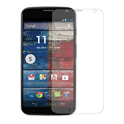 Simplecase Panzerglas passend zu Motorola Moto X (2. Gen.) , Premium Bildschirmschutz , Schutz durch Extra Festigkeitgrad 9H , Hülle Friendly , Echtglas / Verb&glas / Panzerglasfolie , Transparent - 1 Stück