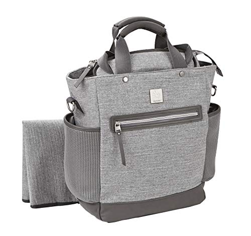 Ergobaby Diaper Bag Backpack Coffee Run Grey Sport, Baby Changing Bag with Mat,...