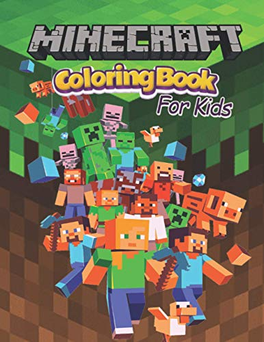 Minecraft coloring book: +51 High Resolution Minecraft Colouring pages , for kids ages (4-12) by Paul Nutter