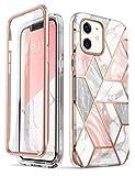 i-Blason Marmor Hülle für iPhone 12 Mini (5.4'') Glitzer Handyhülle [Cosmo] mit Bildschirmschutz, Pink