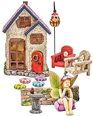 Miniature Fairy Garden Houses, Fairies, Figurines, Animals, Kits, Furniture, and Supplies
