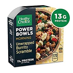 Healthy Choice Power Bowls Unwrapped Burrito Scramble, Packed with Protein, 7.2 Ounce