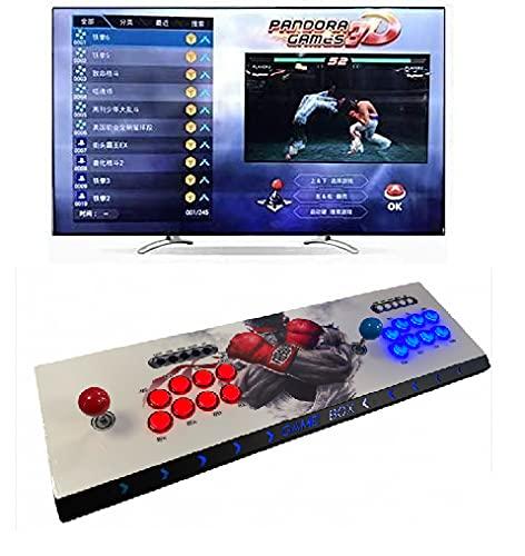 Theoutlettablet @ - Pandora Box 3D WiFi+ con 8000 Retro Games Console Maquina Arcade Video Gamepad VGA/HDMI/USB Street 8 Botones