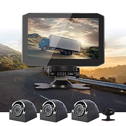 VSYSTO Dashcam Moto Caméra de Moto Camera Moto Double Lentille 1080P Caméra Avant et arrière DVR Moto Écran LCD 3,0 '' Grand Angle 140 ° Caméra de Sport étanche GPS WiFi