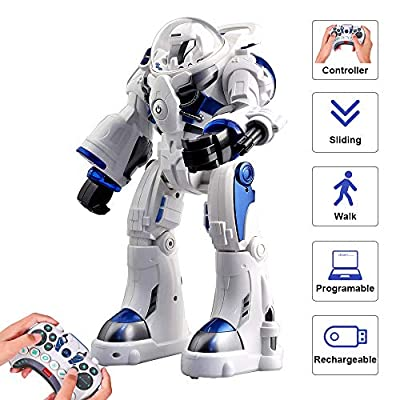 ToyPark RC Robot, F9 Intelligent Entertainment Electronic Smart Robot with APP Programming Bluetooth Audio and LED Light for Children's Multifunction Educational Learning Toys