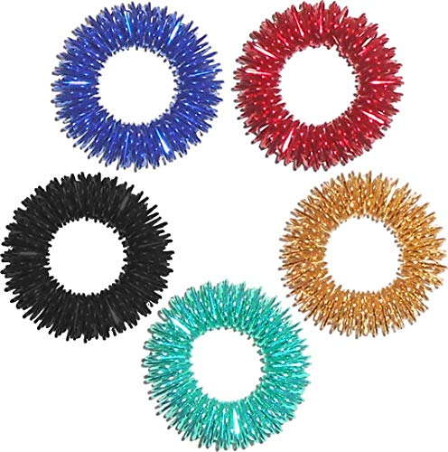 Edz Kidz SENSOREEZ 10 x Finger Hedgehogz. Stress relief finger rings to help people with OCD, ADHD, ADD & Autism