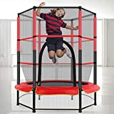 Kids Trampoline for 3-8 Year Old (No Spring Hooks, Less Hurt) with Higher Safety Enclosure Net, 55...