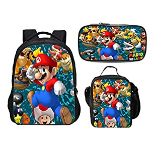 Mochila Super Mario para niños, niñas Adolescentes Mochila Niños Super Mario Bros Mochilas Escolares Bolsas para…