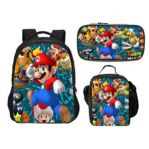 Mochila Super Mario para niños  niñas Adolescentes Bros Mochilas Escolares
