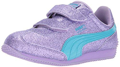 Puma Whirlwind Glitz - Sneaker da bambino, viola (Viola rosa-blu Atoll), 20 EU