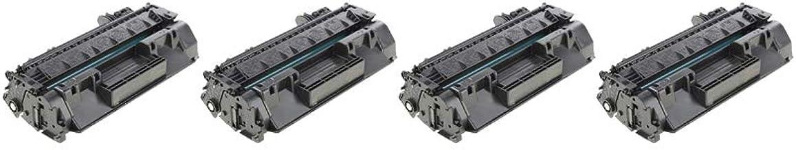RudyTwos 4X Repuesto para Unidad de tóner HP 80A Negro Compatible con Laserjet Pro 400 M401A, M401D, M401DN, M401DNE, M401DW, M401N, MFP M425DN, MFP M425DW