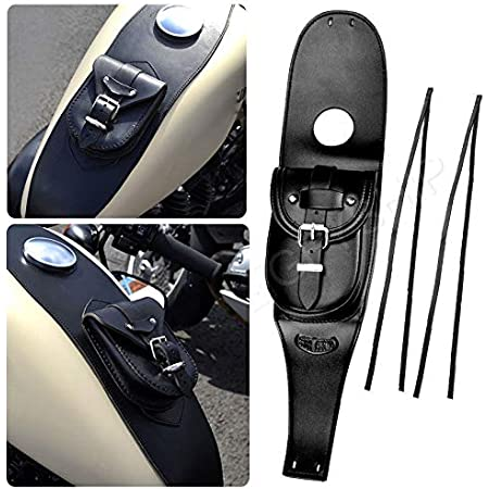 housesweet Tank Cover Leather Waterproof Panel Pad Bib Pouch Bag Motorcycle Gas Fuel Tank Bag for Harley