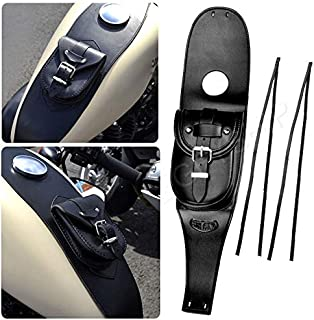 KYN Waterproof Black Motorcycle Gas Leather Iron Tank Cover Panel Pad Bag Pouch Bag for Harley Sportster XL883 1200 Forty Eight Iron 883 Seventy Two