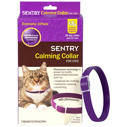 SENTRY Calming Collar for Cats (Up to 15-Inch Neck) | Chewy