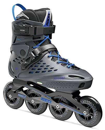 Roces 400470 Men's Model Vidi Fitness Inline Skate, US 8, Charcoal/Strong Blue