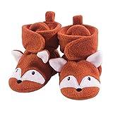 Hudson Baby Unisex Cozy Fleece Booties, Orange Fox, 0-6 Months