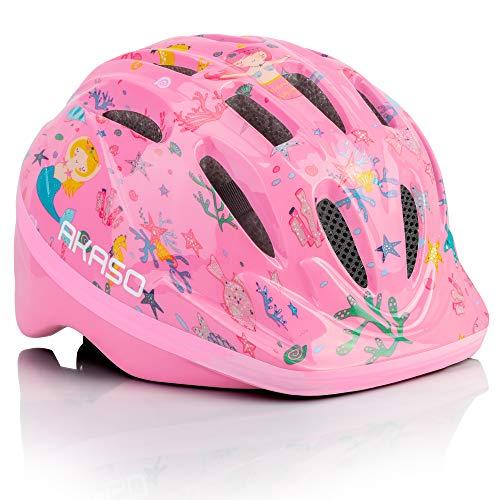 AKASO Casco Bici Niños Helmet Infantil para 2-12 Años con 14 Orificios de Ventilación Ajustable y Safe Casco Kid para Bici/Skate/Ciclismo con CE Certifiacdo