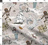 Ozean, Meerjungfrau, Pirat, Maritim, Wal Stoffe -
